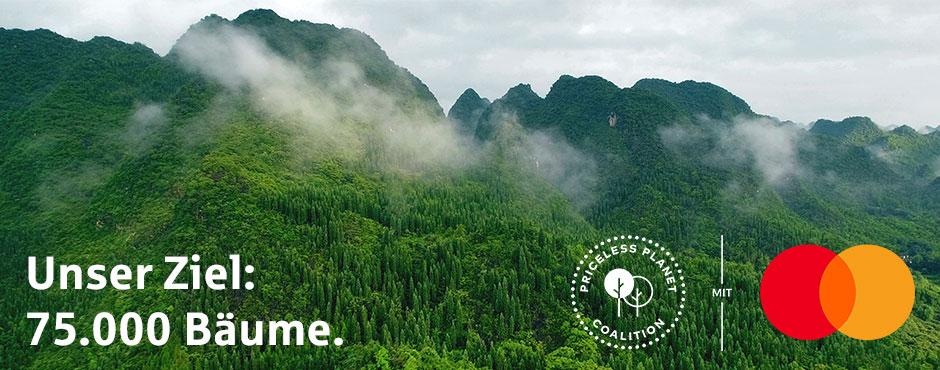 Unser Ziel: 75.000 Bäume